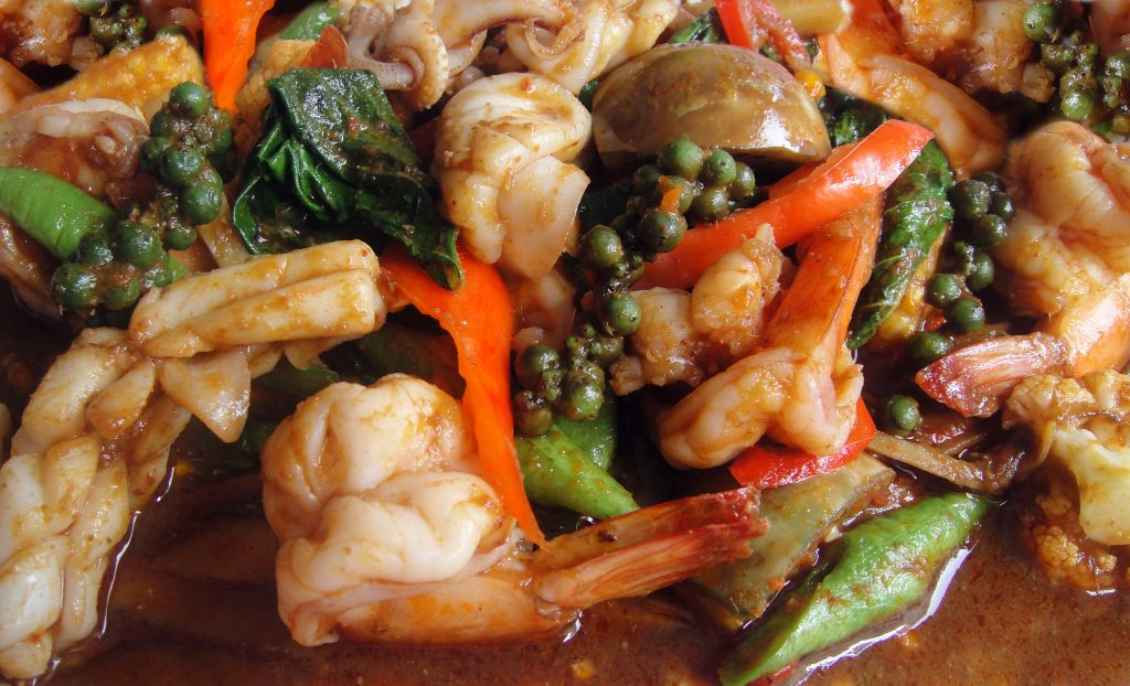 Thai spicy seafood